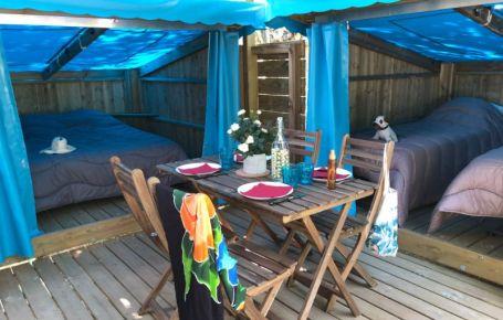 Bunbgalow atypique et confortable en camping